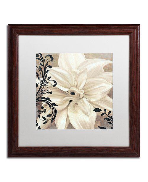 """Trademark Global Color Bakery 'Winter White Ii' Matted Framed Art, 16"""" x 16"""""""