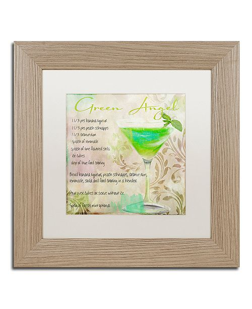 "Trademark Global Color Bakery 'Cocktail Quartet Ii' Matted Framed Art, 11"" x 11"""