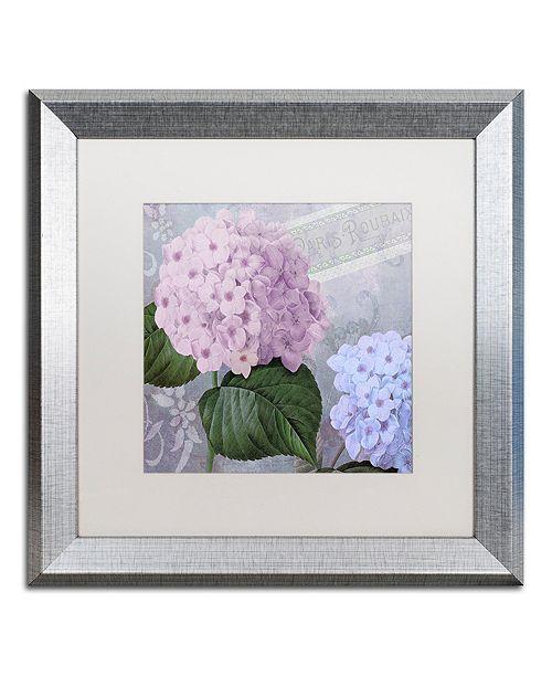 """Trademark Global Color Bakery 'Hortensia 2' Matted Framed Art, 16"""" x 16"""""""