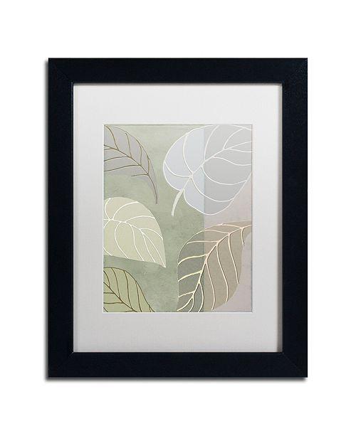"""Trademark Global Color Bakery 'Leaf Story V' Matted Framed Art, 11"""" x 14"""""""