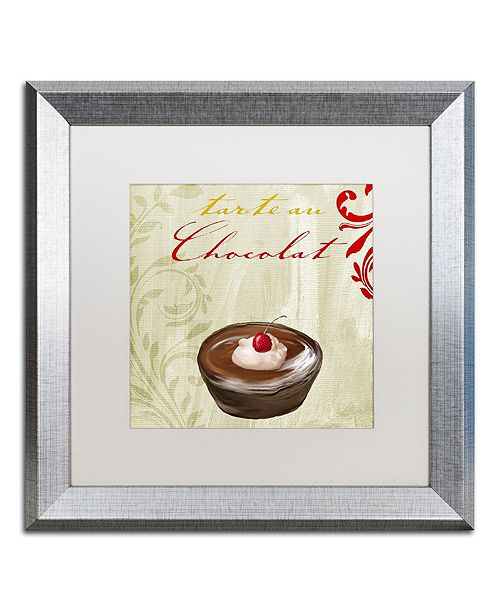 "Trademark Global Color Bakery 'Tartes Francais, Chocolat' Matted Framed Art, 16"" x 16"""
