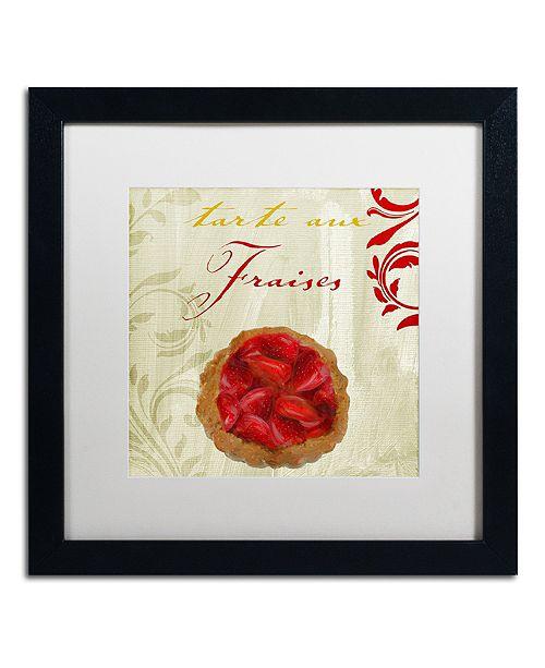 "Trademark Global Color Bakery 'Tartes Francais, Strawberry' Matted Framed Art, 16"" x 16"""