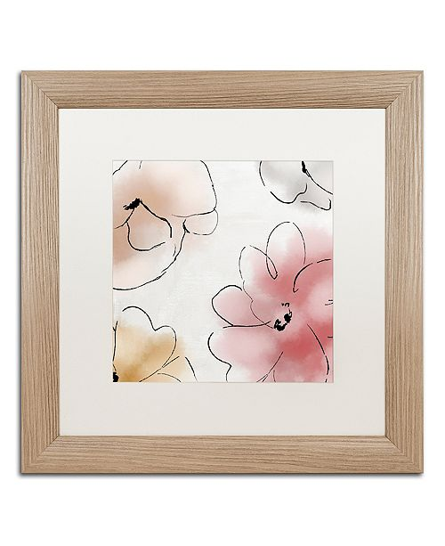 """Trademark Global Color Bakery 'Kasumi One' Matted Framed Art, 16"""" x 16"""""""