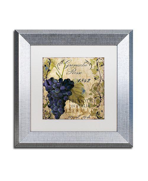 "Trademark Global Color Bakery 'Vino Italiano Iii' Matted Framed Art, 11"" x 11"""