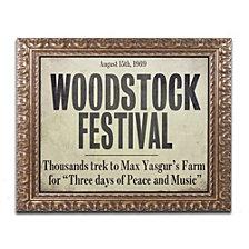Color Bakery 'Woodstock' Ornate Framed Art