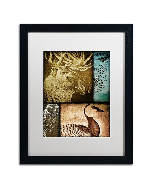 "Trademark Global Color Bakery 'Hunting Season Iii' Matted Framed Art, 16"" x 20"""