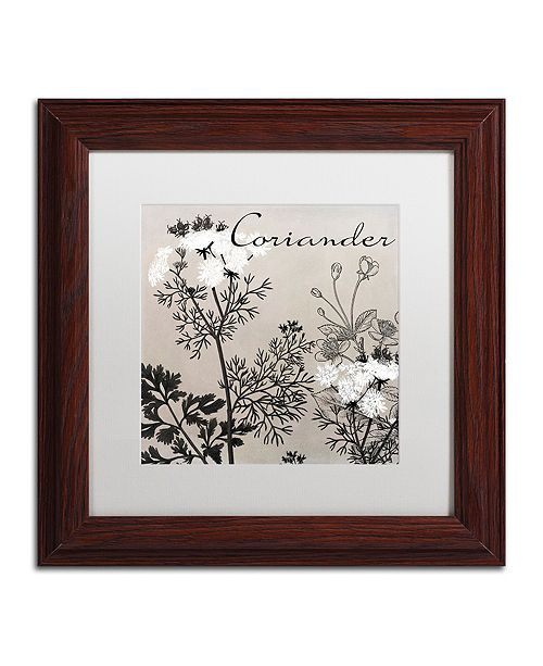 "Trademark Global Color Bakery 'Flowering Herbs Iv' Matted Framed Art, 11"" x 11"""