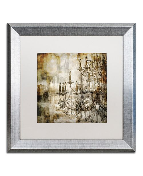 "Trademark Global Color Bakery 'Lumi'res Ii' Matted Framed Art, 16"" x 16"""