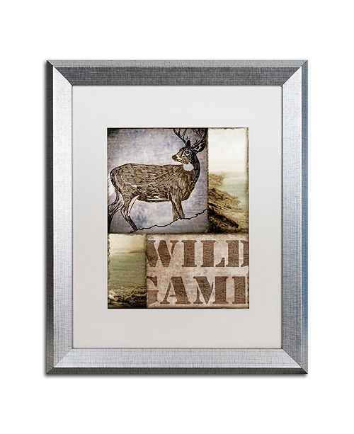 "Trademark Global Color Bakery 'Wild Game' Matted Framed Art, 16"" x 20"""