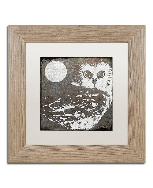 "Trademark Global Color Bakery 'Owl 3' Matted Framed Art, 11"" x 11"""