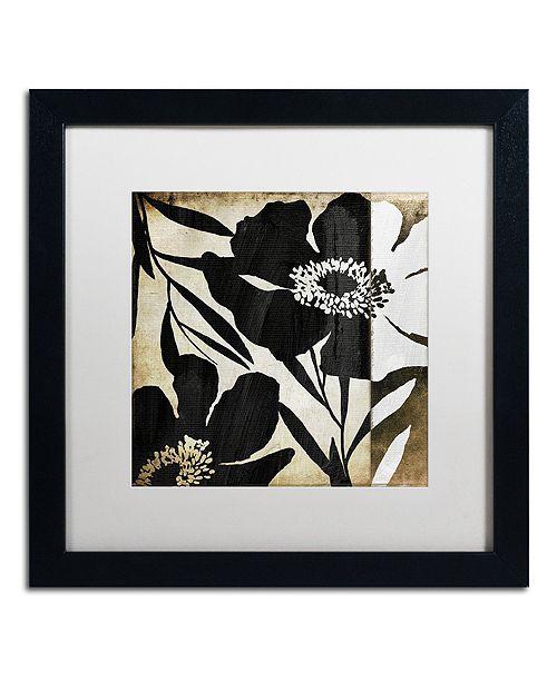 "Trademark Global Color Bakery 'Floral Jungle Lines Ii' Matted Framed Art, 16"" x 16"""