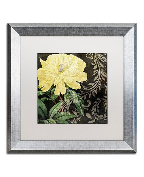 """Trademark Global Color Bakery 'Ode To Yellow I' Matted Framed Art, 16"""" x 16"""""""