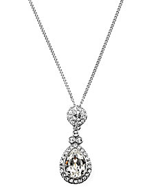 Givenchy Necklace, Swarovski Element Teardrop Pendant