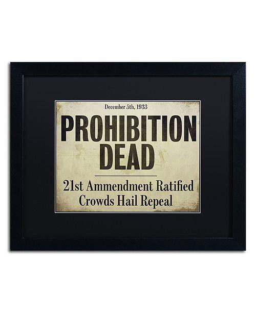 "Trademark Global Color Bakery 'Prohibition' Matted Framed Art, 16"" x 20"""