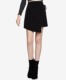 BCBGeneration Faux-Wrap Mini A-Line Skirt