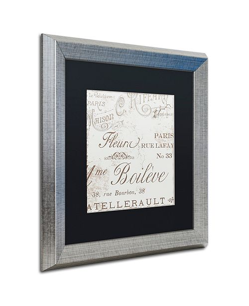 "Trademark Global Color Bakery 'Bon Mots I' Matted Framed Art, 16"" x 16"""