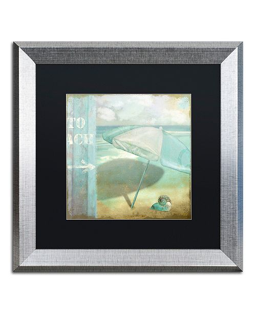 "Trademark Global Color Bakery 'By The Sea Ii' Matted Framed Art, 16"" x 16"""