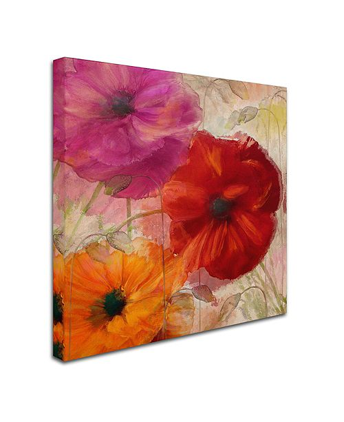 """Trademark Global Color Bakery 'Penchant For Poppies I' Canvas Art, 14"""" x 14"""""""