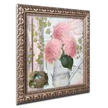 """Color Bakery 'Chalet D'Ete Hydrangea' Ornate Framed Art, 14.75"""" x 14.75"""""""