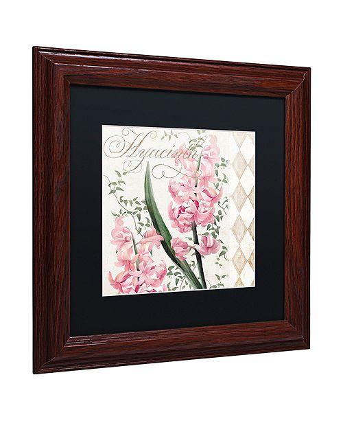 "Trademark Global Color Bakery 'Hyacinth' Matted Framed Art, 11"" x 11"""