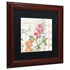 """Color Bakery 'Sweet Pea' Matted Framed Art, 11"""" x 11"""""""