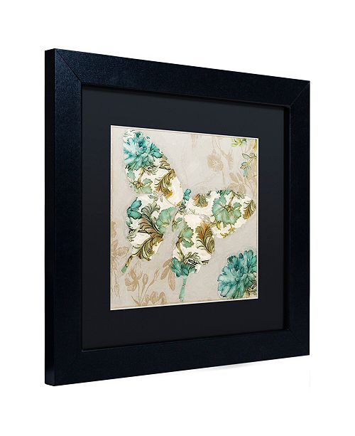 """Trademark Global Color Bakery 'Winged Tapestry Ii' Matted Framed Art, 11"""" x 11"""""""