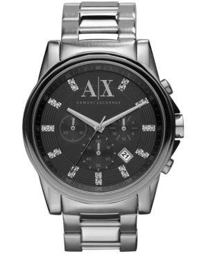 AX Armani Exchange Watch, Men's Chronograph Stainless Steel Bracelet 45mm AX2092