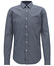 BOSS Men's Slim-Fit Cotton Oxford Shirt