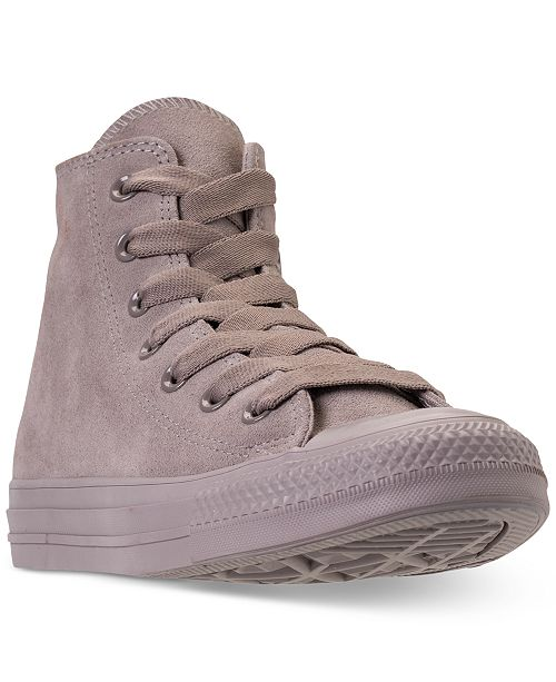 04f35d91baa0 ... Converse Unisex Chuck Taylor All Star Suede Mono Color High Top Casual  Sneakers from Finish Line ...