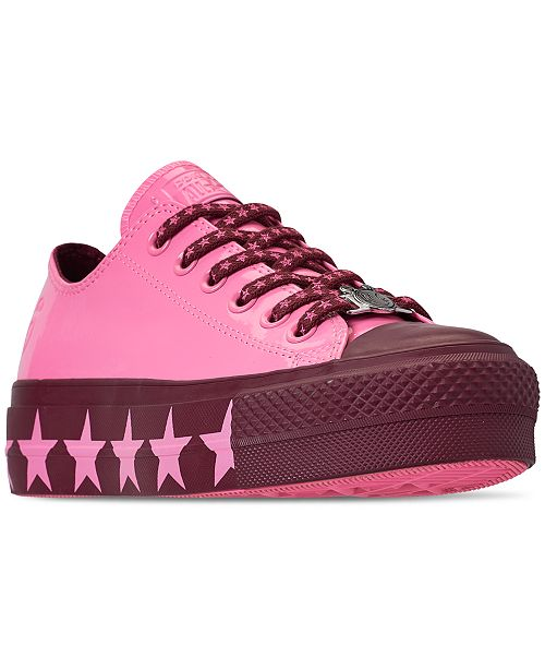 4fa69c76742477 ... Converse Women s Chuck Taylor All Star x Miley Cyrus Ox Lift Casual  Sneakers from Finish ...