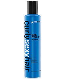 Sexy Hair Curly Sexy Hair Curl Power Spray Foam, 8.4-oz., from PUREBEAUTY Salon & Spa