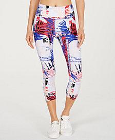 Calvin Klein Performance Isla Printed High-Rise Cropped Leggings