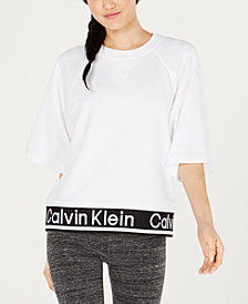 Calvin Klein Performance Logo Bell-Sleeve Sweater