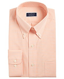 Men's Slim Fit Performance Mini Gingham Dress Shirt, Created for Macy's