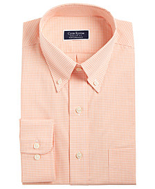 Club Room Men's Slim Fit Performance Mini Gingham Dress Shirt, Created for Macy's