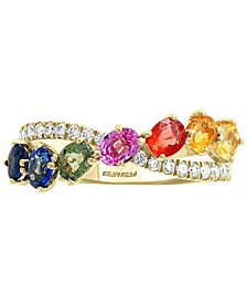 EFFY® Multi-Sapphire (1-3/8 ct. t.w.) & Diamond (1/4 ct. t.w.) Ring in 14k Gold