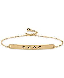 RACHEL Rachel Roy Gold-Tone Love ID Bracelet