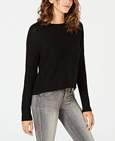 OhMG! Juniors' Ribbon-Back Pullover Sweater