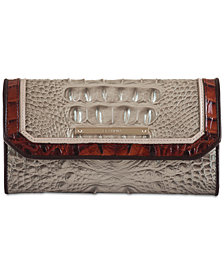 Brahmin Soft Checkbook Embossed Leather Wallet