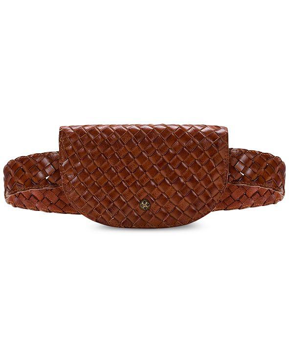 Patricia Nash Ponticelli Woven Leather Belt Bag