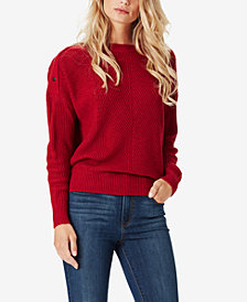 Jessica Simpson Juniors' Mei Snap-Shoulder Sweater