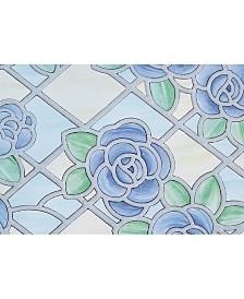 Blue Floral Window Film Set Of 2