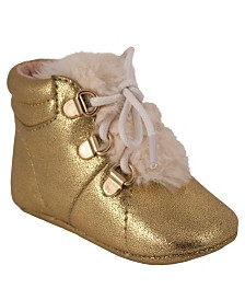 Gold Crackle Metallic Boot