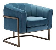 Lyric Occasional Chair Blue Velvet