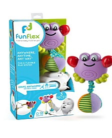 Fun Flex Best Award Winning 3-In-1 Infant Baby Dancing Crab Activity Toy Set