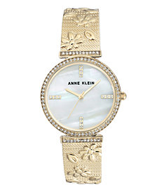 Genuine Mother of Pearl Dial with Swarovski Crystals