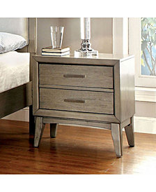 Contemporary Style Night Stand, Gray