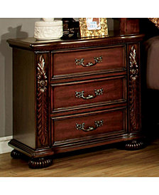 Traditional Style Night Stand, Brown