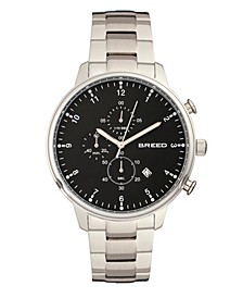 Quartz Holden Chronograph Silver And Black Alloy Watches 45mm