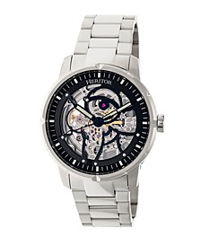 Automatic Ryder Silver & Black Stainless Steel Watches 44mm